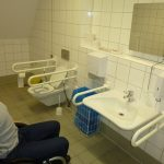Picture of the interior of the accessible toilet showing the appliances and room