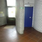 Entrance to the accessible toilet