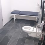 Inside view of the accessible toilet