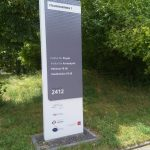 Picture of the signpost for the building