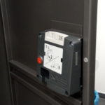 Picture of the deposit device in each locker.